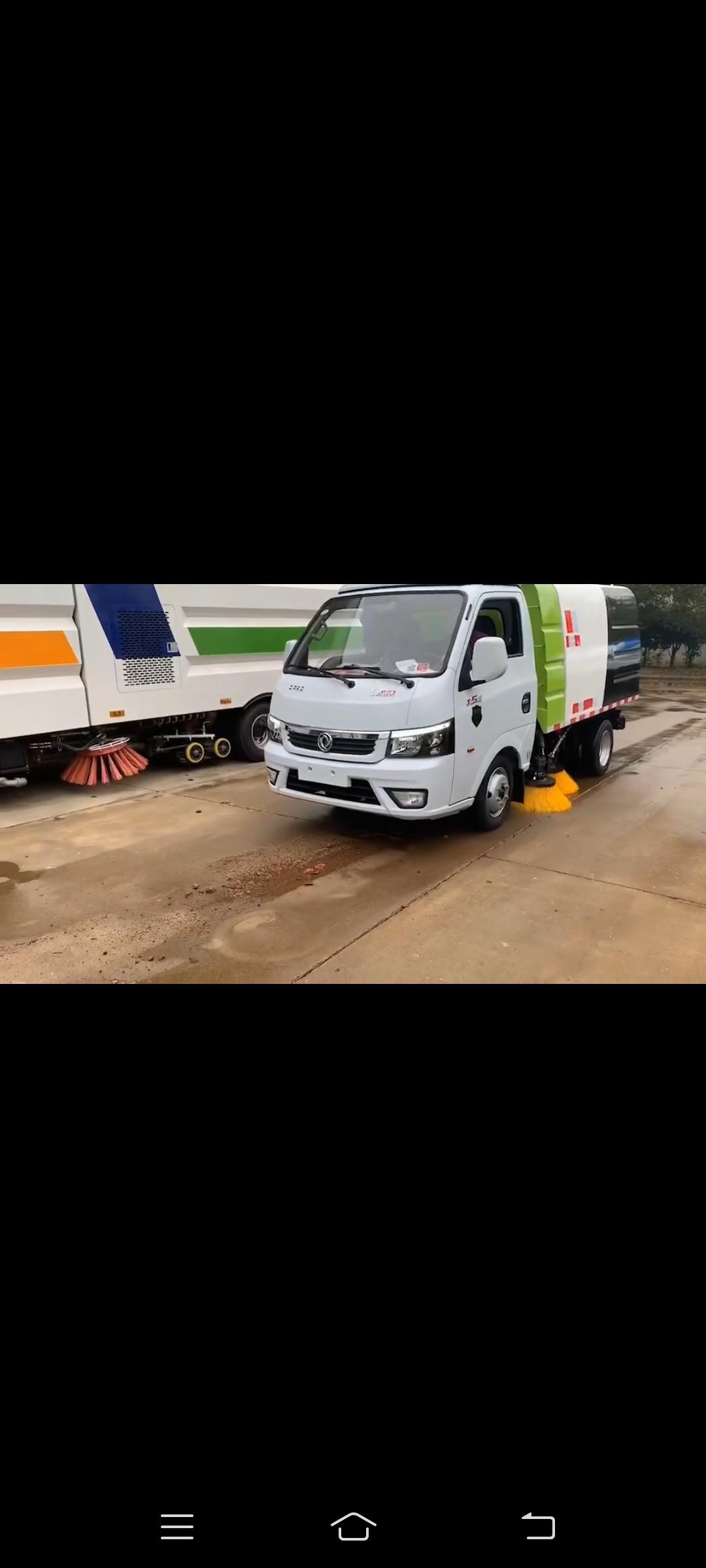 国六东风途逸2方小型扫路车视频