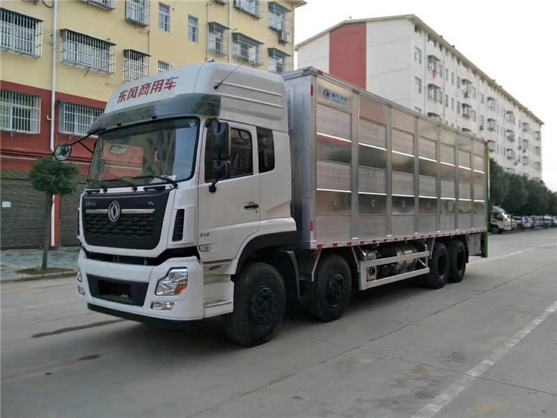东风天龙9米6铝合金拉猪车