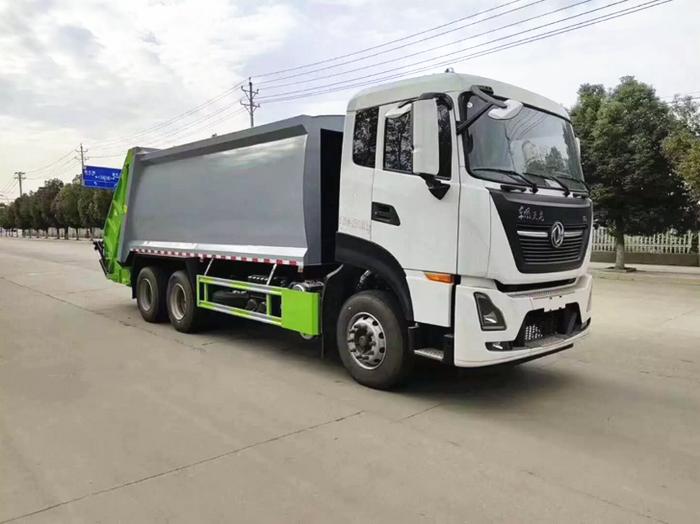 国六东风天龙压缩式垃圾车