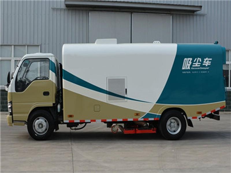 国六五十铃5吨纯吸式吸尘车图片