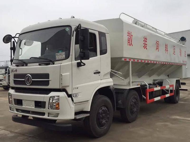 东风天锦30方(15吨)散装饲料运输车
