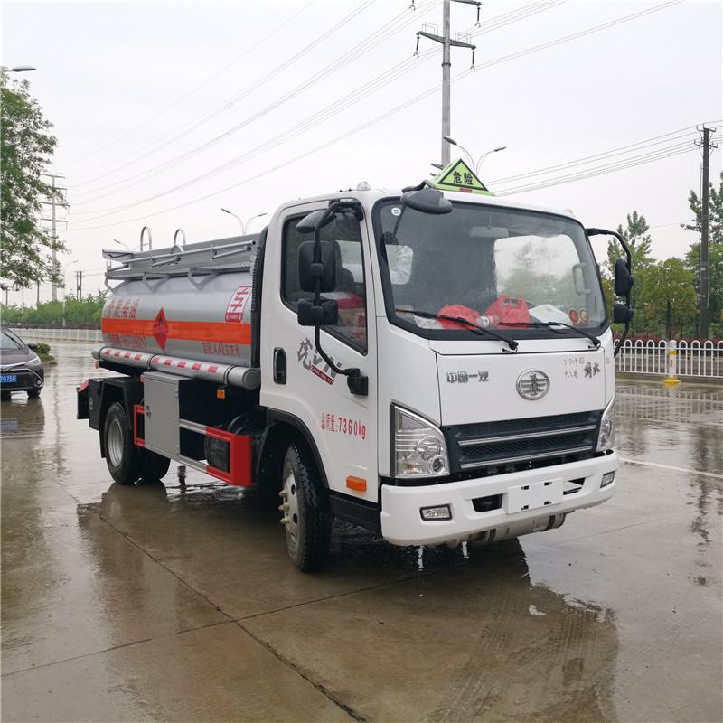解放5吨加油车_柴油油罐车_小型流动解放加油车价格报价图片