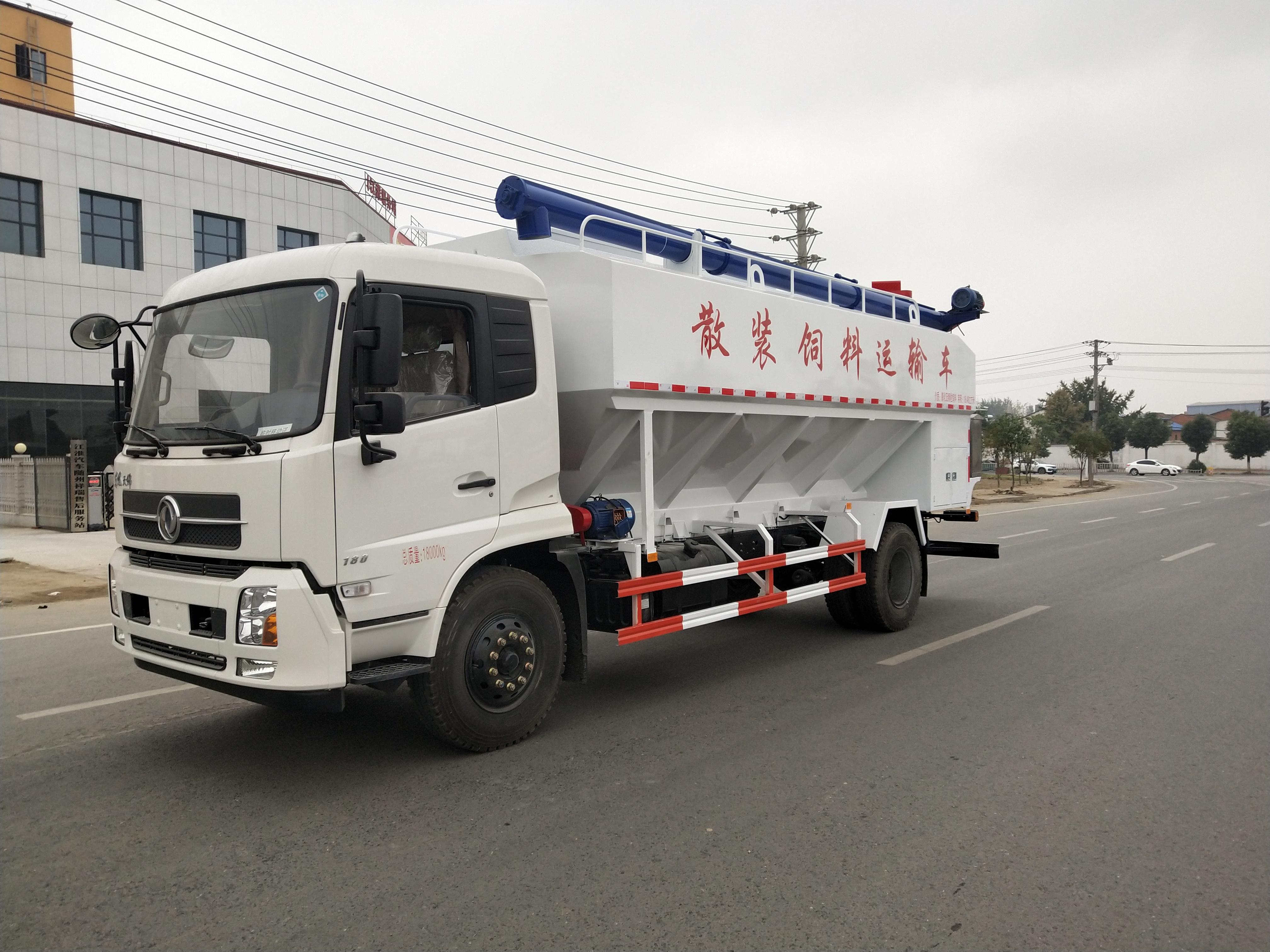 程力东风天锦22方散装饲料运输车