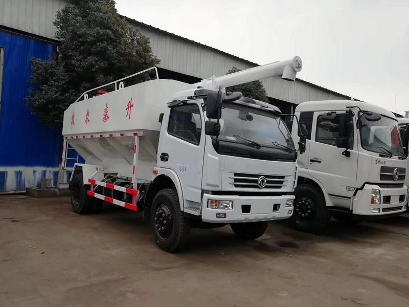养殖场猪饲料鸡饲料周转首选东风多利卡12方6吨散装饲料车13971799462