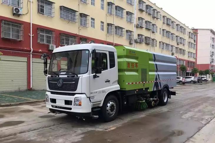 國六東風天錦16方洗掃車外形展示視頻