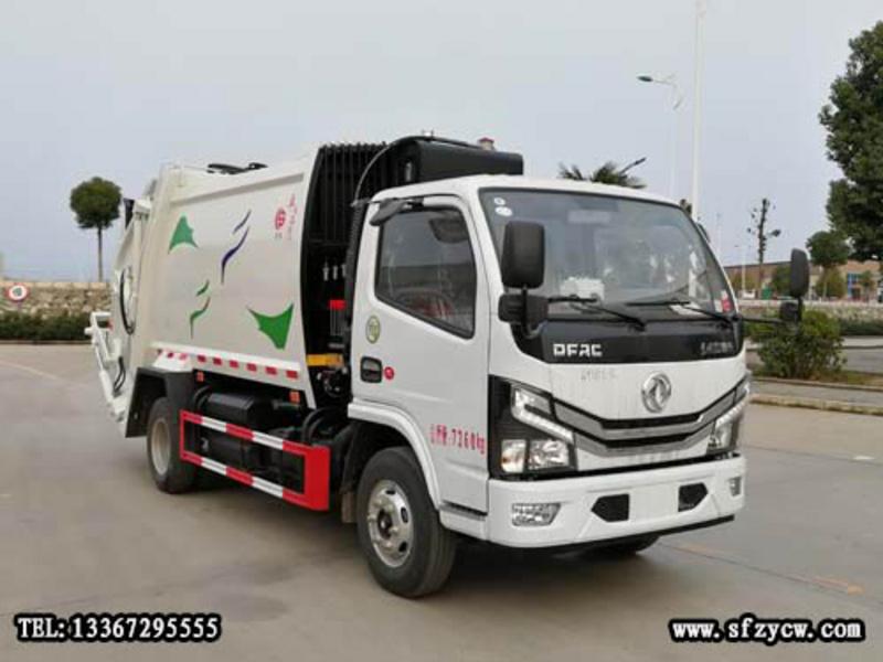 国六东风6方压缩式垃圾车配置说明