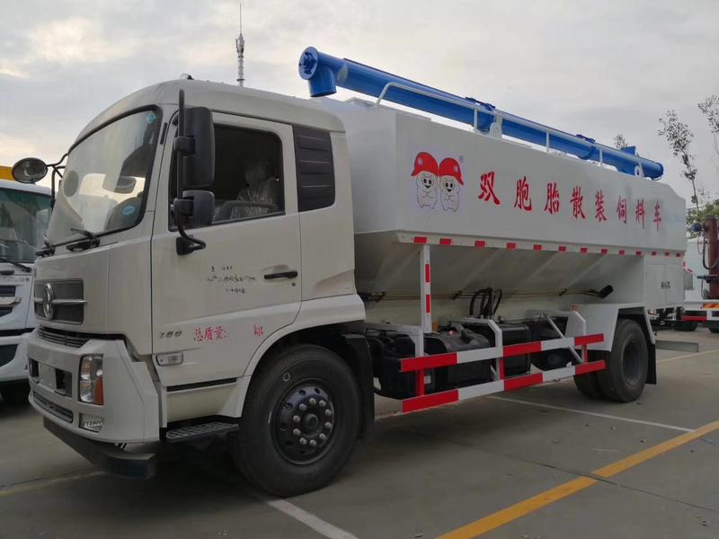 正邦集团双胞胎集团来我司喜提东风天锦20方10吨散装饲料车13971799462