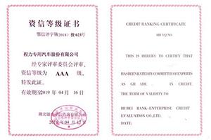 资信登记证书