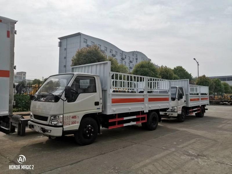 江鈴氣瓶車廂長4.2米(藍牌)倉欄氣瓶配送車配置 視頻視頻