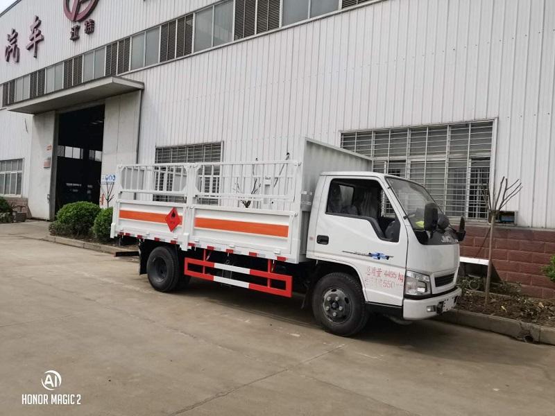 藍牌江鈴4.2米二類危險品高欄氣瓶運輸車額載1.5噸 視頻視頻
