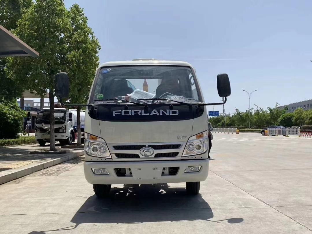 福田国六小卡3车厢可御式垃圾车/3方勾臂垃圾车