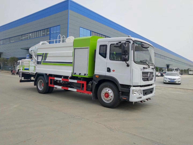 国六50米东风雾炮车价格12吨洒水抑尘车最新款式