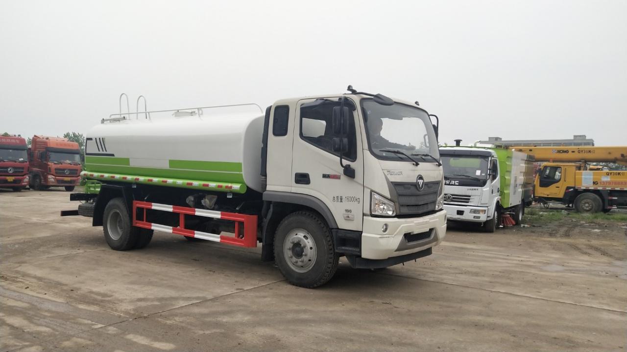 國六12噸福田抑塵霧炮車配30米霧炮機組價格