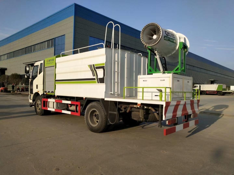 国六解放J6抑尘雾炮车厂家12吨大柴220马力价格