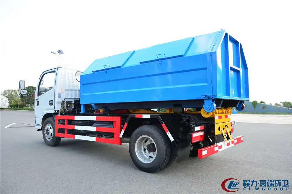 国六蓝牌勾臂垃圾车配置图片图片
