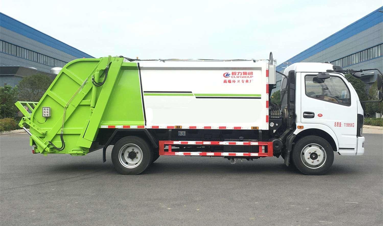 国六垃圾车  大多利卡垃圾车  国六压缩垃圾车图片