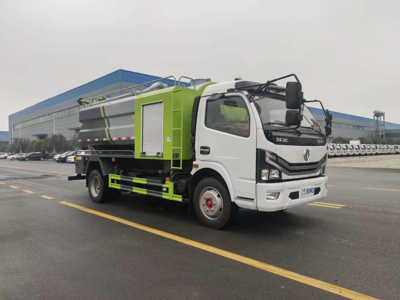 国六大多利卡玉柴165马力发动机清洗吸污车配置图片