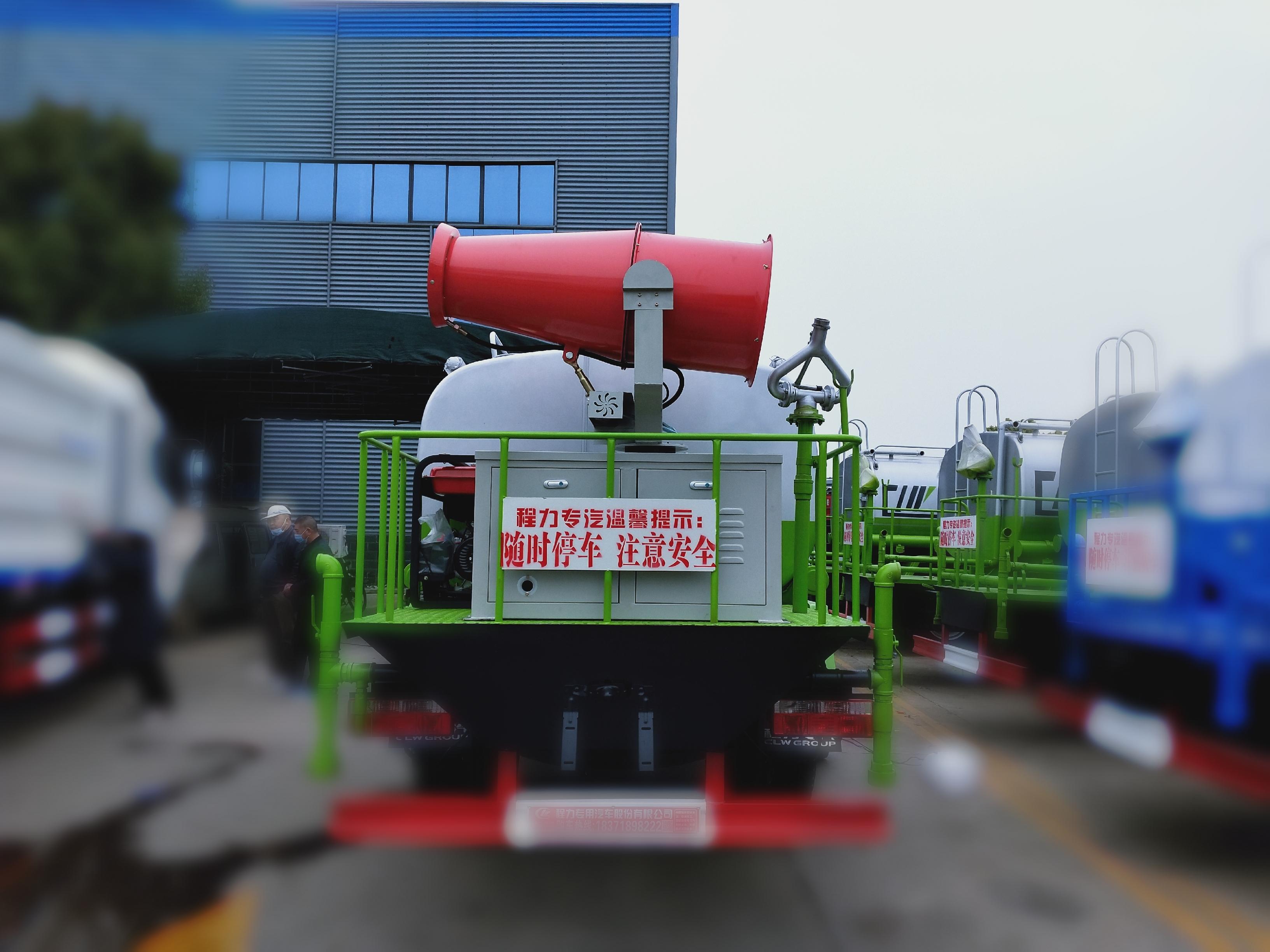 国六10吨东风150马力洒水车可选装雾炮洒水