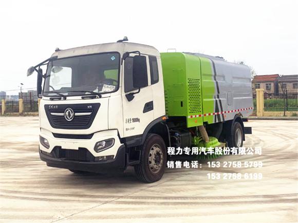 国六东风天锦10方干扫式吸尘车