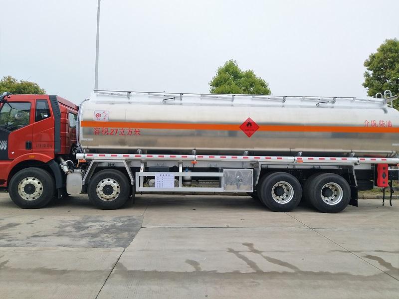 解放J6油罐車前四后八20噸鋁合金油罐車配置 視頻視頻