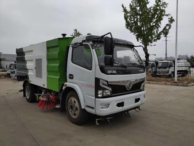 国六东风多利卡8吨洗扫车厂家视频