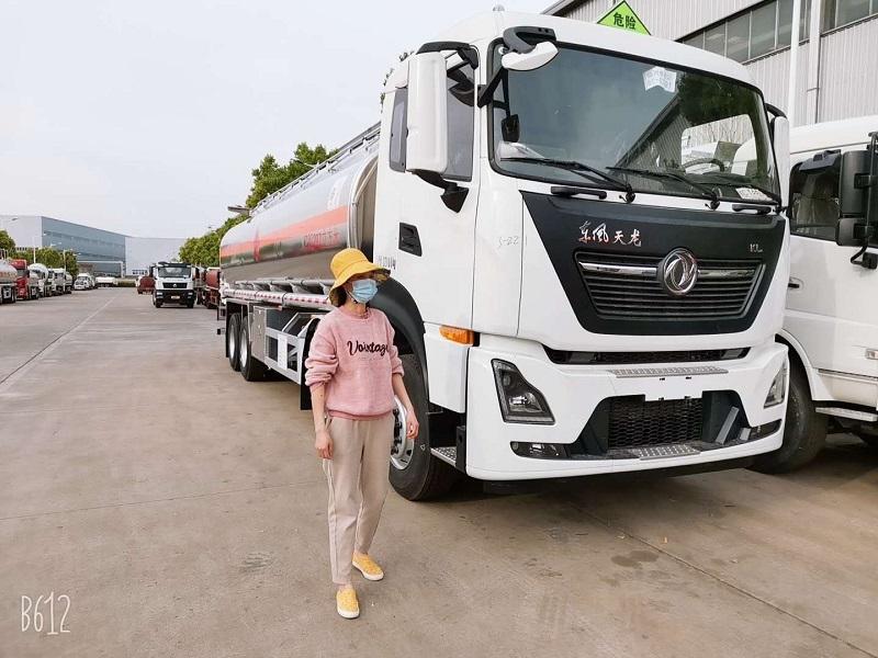 國六東風天龍額載21噸鋁合金油罐車包上戶送車到家 視頻視頻