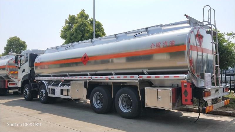 國六東風天龍前四后八32噸氣囊橋運油車參數價格 視頻視頻