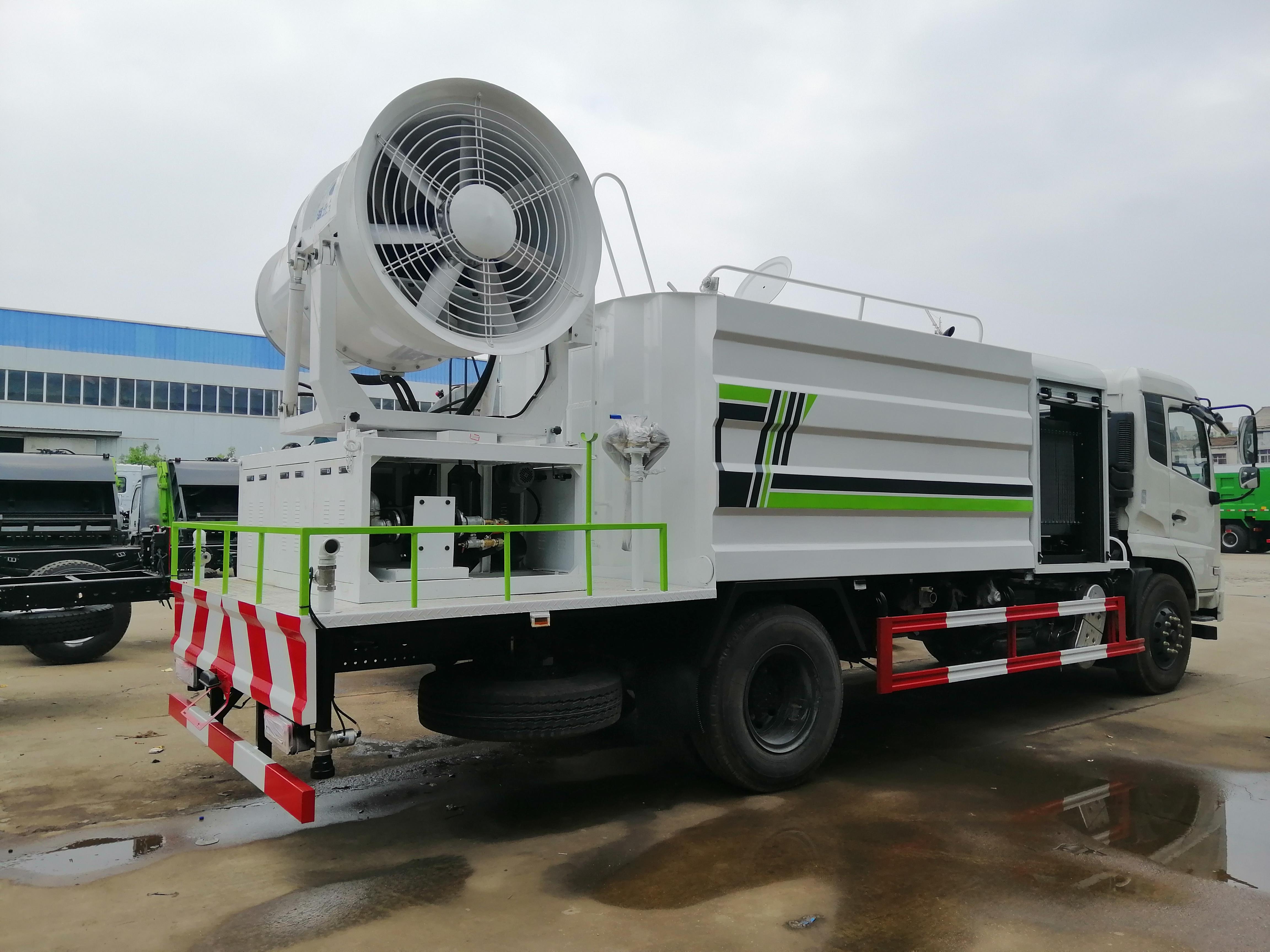 东风天锦12方抑尘车是什么效果,具体容积有多少方,配什么雾炮