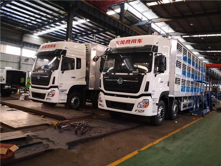 畜禽运输车 铝合金生猪运输车 东风天龙运输车 前四后八畜禽车视频