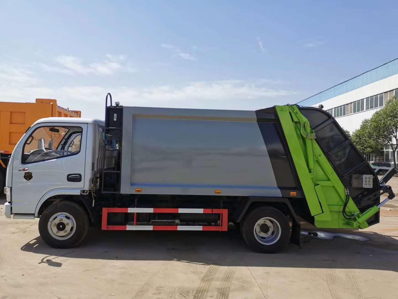 东风多利卡六方压缩式垃圾车功能展示图视频