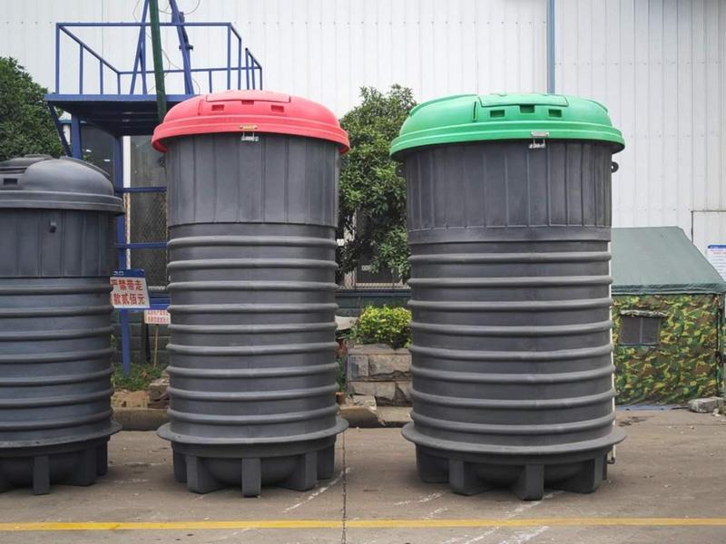 程力深埋式垃圾桶,5方、3方、2方让你眼花缭乱!