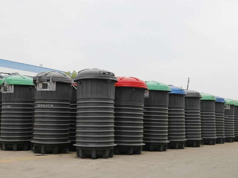 2020年5方深埋式垃圾桶最新价格,3方深埋式垃圾桶厂家直销,价格你说了算!