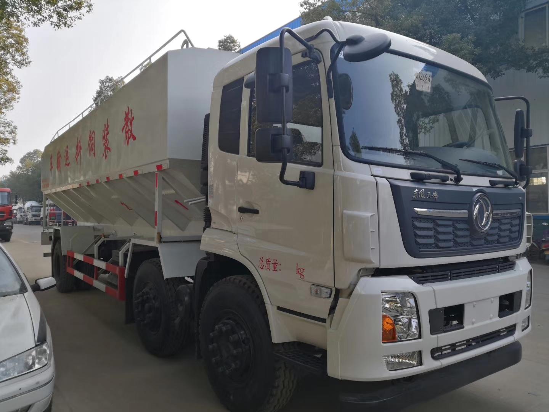 东风天锦小三轴30方15吨散装饲料车(爆款)图片