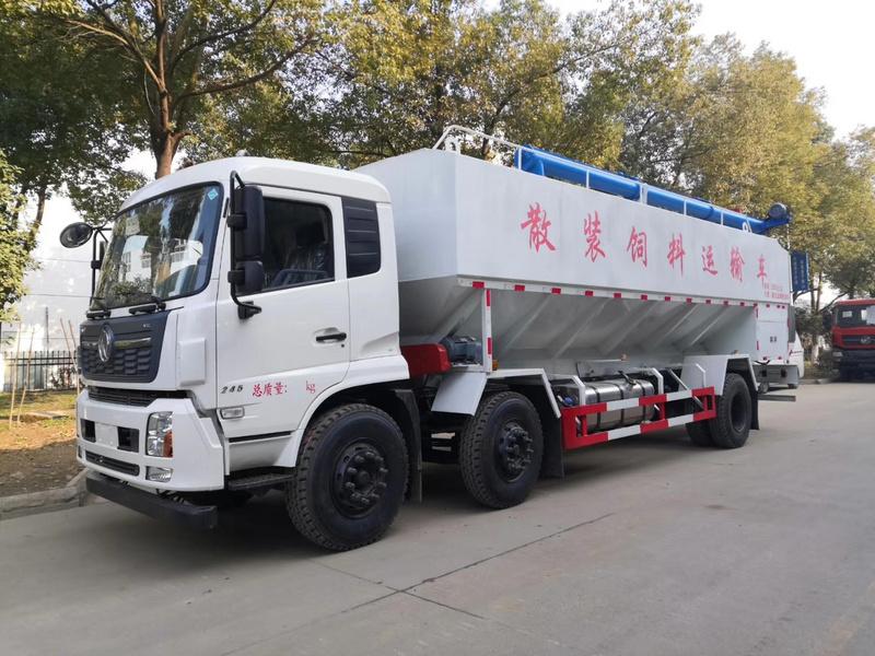 东风天锦小三轴新款VR驾驶室30方15吨散装饲料车爆款车型热销中