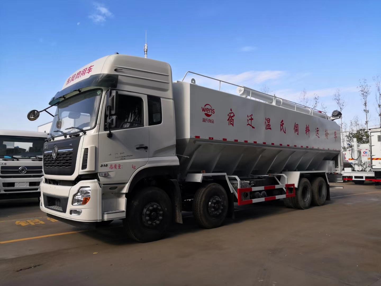 东风天龙前四后八40方20吨散装饲料车(爆款)图片