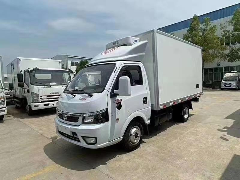 国六东风途逸后双胎3米5小型汽油冷藏车价格13971799462