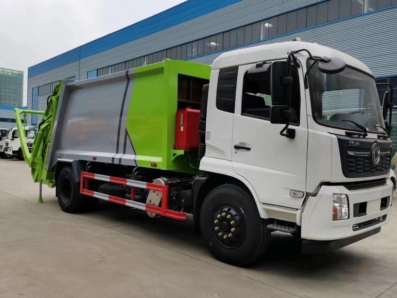 河北国六天锦压缩式垃圾车带摆臂的图片和价格图片