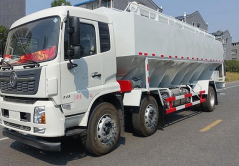 电动式散装饲料运输车-30吨散装饲料-散装饲料车厂家