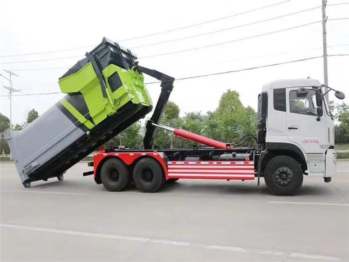 CSC18Y翻斗型移动式连体压缩设备-移动压缩垃圾箱