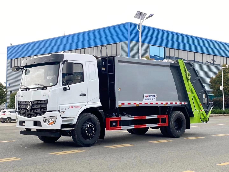 国六东风专底12方压缩式垃圾车图片和配置