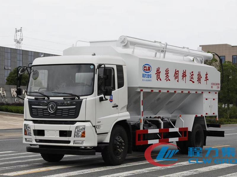 东风天锦20方10吨散装饲料运输车厂家
