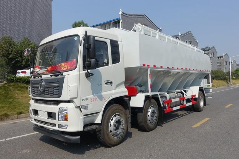 陕汽X6单桥20立方散装饲料运输车配置及图片