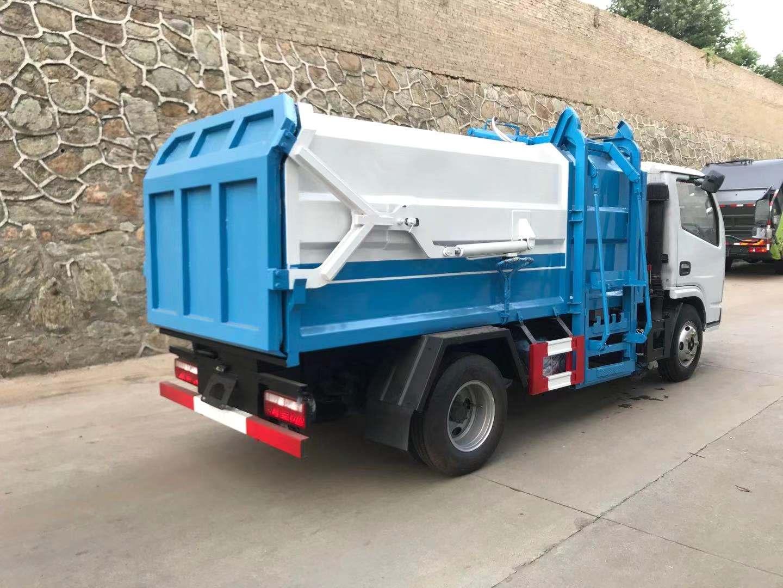 8立方东风侧挂桶垃圾车厂家价格朝柴170马力