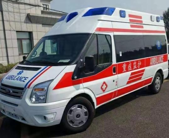 福特全顺新世代V348钻石顶长轴负压救护车厂家图片