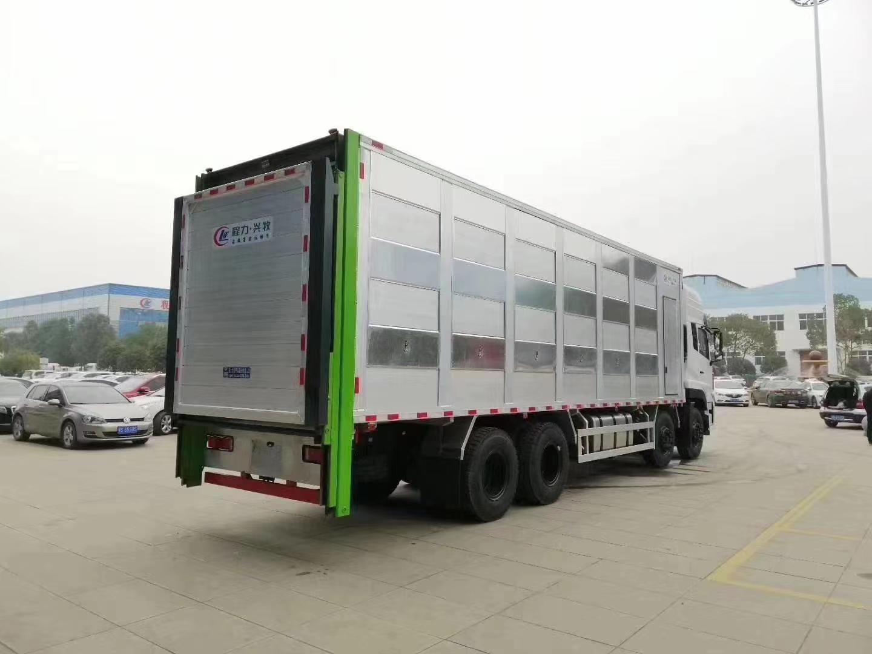国六东风天龙前4后8畜禽运输车运猪车