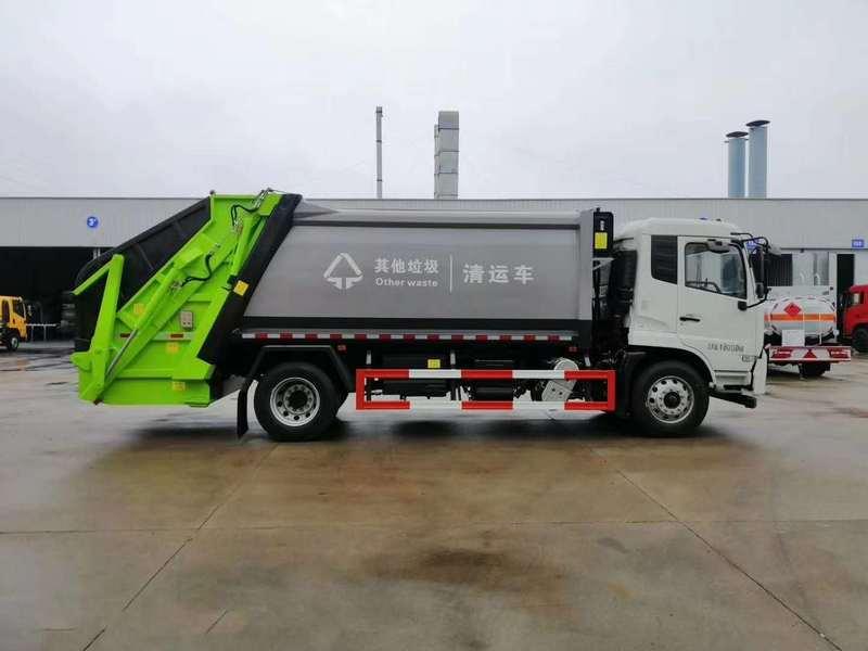 国六东风多利卡D9(18方)国六对接式垃圾车功能介绍