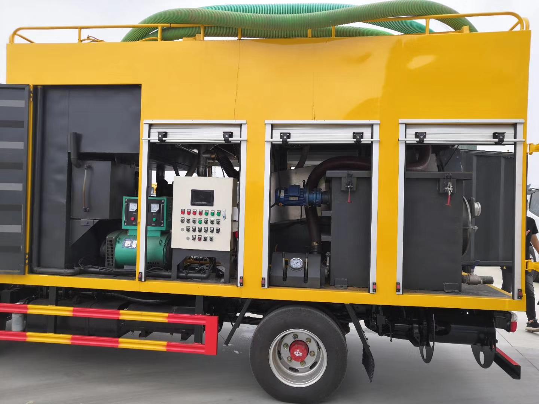蓝牌污水处理净化车城市废水疏通处理车价格视频