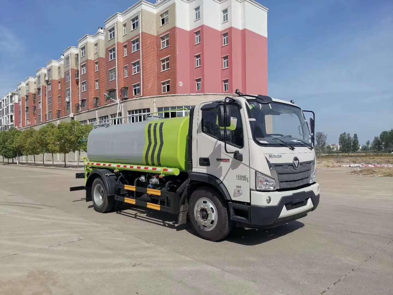 国六12吨福田洒水车厂家80米雾炮车和抑尘车新图片
