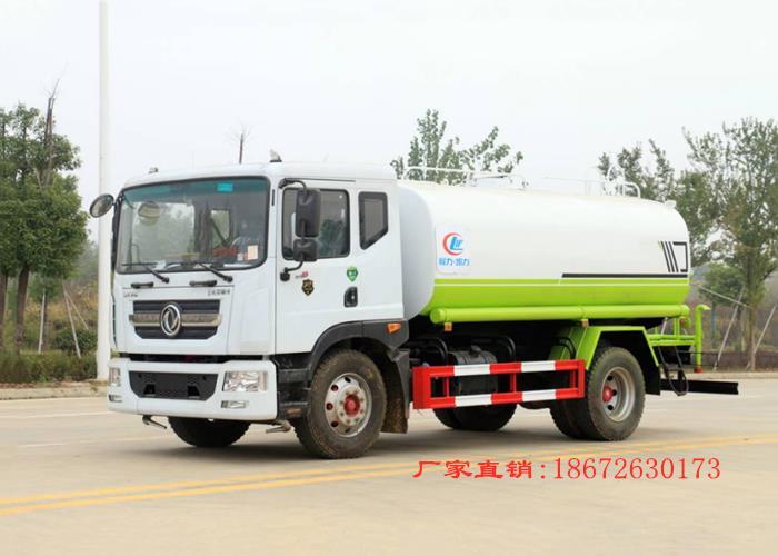 国六东风D9款14方绿化喷洒附带30米车工作展示图片