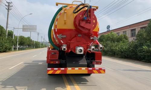 國六大型東風后雙橋帶副發清洗吸污車20方